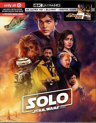 Solo:a Star Wars Story(4K Ultra Hd+Blu-Ray+Digital)Target Exclusive Digital Book