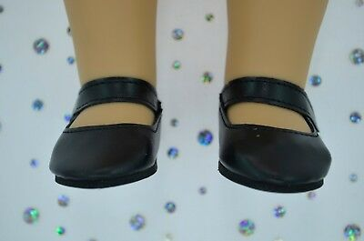 """Dolls Shoes For 17""""Baby Born~18""""American Girl BLACK SHOES"""