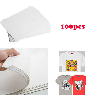 100 Sheet A4 Dye Sublimation Heat Transfer Paper for Polyester Cotton T- Shirt