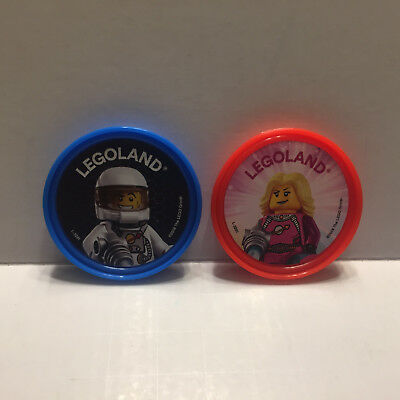 Official Legoland Space Badges - Astronaut and Space Girl