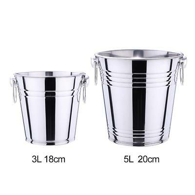 Large Capacity Stainless Steel Ice Bucket Bar Beer Cooler Wine Champagne Party