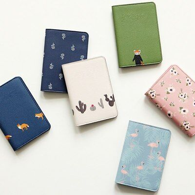 1PC Printing Women Passport Holder Stationery PU Leather Travel Passport Cover
