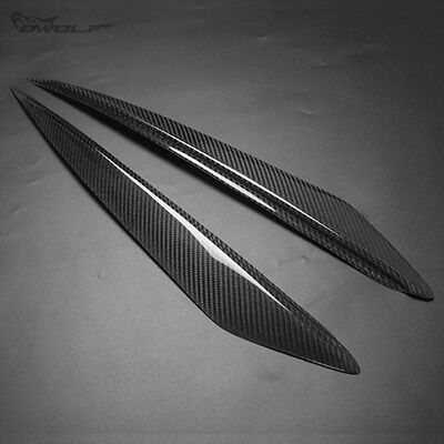 Real Carbon Fiber Eyebrow Eyelid Eye Lid Headlight for Mazda3 Mazda 3 2010-2013