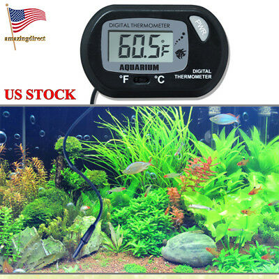 Aquarium Water Thermomete LCD Digital Fish Tank Thermometer Meter Submersible