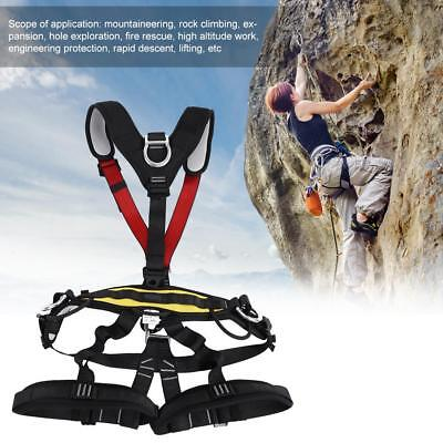 Adjustable Safety Rescue FullBody HarnessBelt Climbing Rock Gear Protection LY
