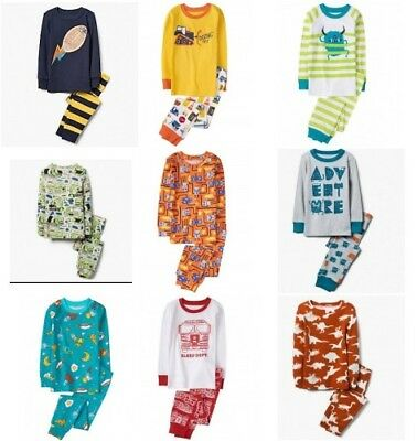 NWT Gymboree Boys Pajamas Long Sleeve Top and Pants Sizes 3 4 5 6 7 8 10 12 14