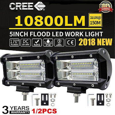 CREE 48W 60W 72W 100W 240W 400W 10800LM LED Work Fog Light Spot Flood Bar SUV~