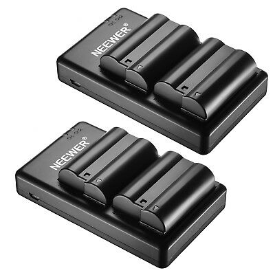 4 Li-ion Battery and 2 Micro USB Dual Charger for Nikon D800 D800E D610