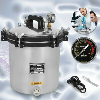 110V 18L Steam Autoclave Sterilizer Tattoo Dental Lab Equipment