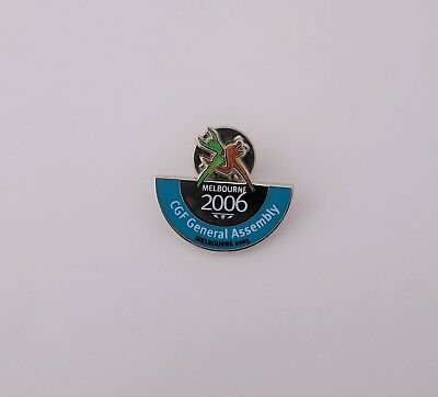 """RARE Collectable 2006 Commonwealth Games """"CGF General Assembly"""" Pin Badge"""