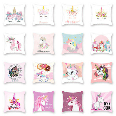 Pillow Case Soft Polyester Sofa Cushion Cover Throw Kids Home Bed Decor