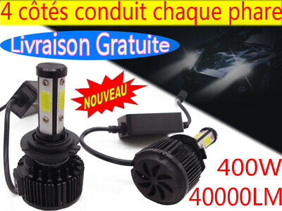 400W H7 H4 H11 LED Ampoule CREE Voiture Feux Phare Lampe Kit Remplacer HID Xénon