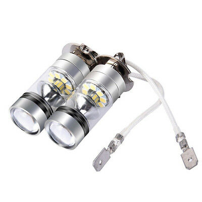 2X H3 LED Fog Light 100W Super Bright Chips Car Driving Bulb 12/24V White Top UK