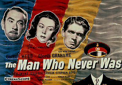 The Man Who Never Was - 1956 - Clifton Webb Gloria Grahame Ronald Neame - DVD