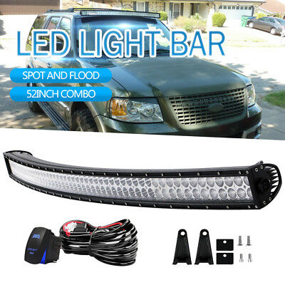 54INCH 1040W Curved Led Light Bar SPOT FLOOD Offroad 4x4WD Truck ATV UTE 52 5D