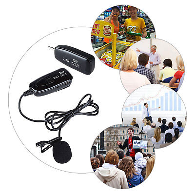 2.4G Lavalier Wireless Microphone Receiver&Transmitter For Voice Amplifier AU!