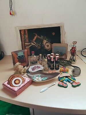 Collectables lot of various vintage items ornaments bar stuff and others