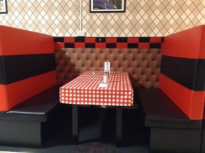 cafe chairs and table, booth set, cafe parlour chairs high back seats,