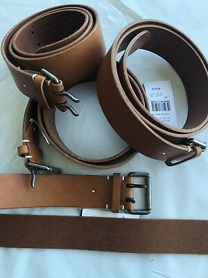 Ralph Lauren Purple Label Hand Made In England Forged Buckle Leather Belt 34 85
