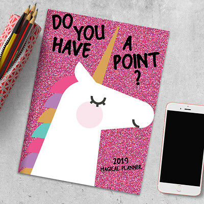 2019 Unicorns: Your Point. Monthly Planner