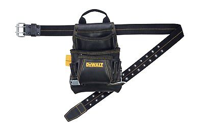 DeWalt DG5433 10-Pocket Carpenter's Top Grain Leather Nail and Tool Bag