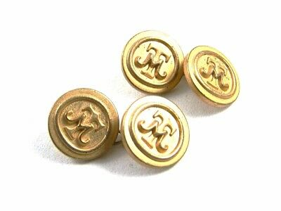 True Vintage Initials TM Goldtone Cufflinks / Buttons Not Marked 101614