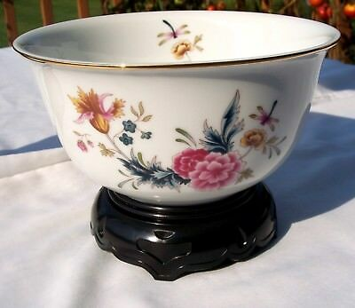 Vintage 1981 American Avon Heirloom Independence Day Bowl With Stand