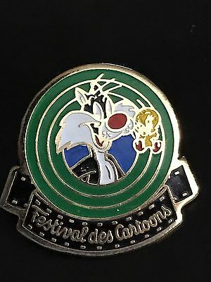 Rare Pin's .. Bd Comics Warner Bros Cartoon Titi Et Gros Minet