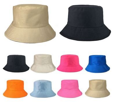 1a546421 Bucket Hat Boonie Hunting Fishing Holiday Women Wide Brim Solid Camping Sun  Caps