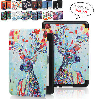 Leather Painted Magnetic Case Cover For Amazon Kindle Paperwhite 4 10th Gen 2018
