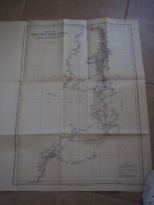 """Antique Map """"Map of the Sierra Leone-Liberia Boundary"""""""