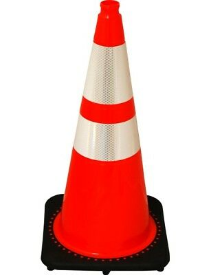 """28"""" Reflective Traffic / Construction Cones with Base"""