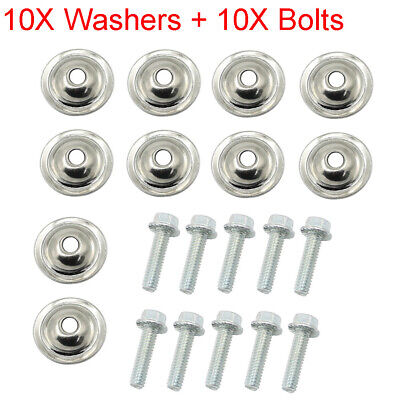 10x SKID PLATE WASHERS AND BOLTS POLARIS RANGER 800 900  /& 1000 2011-2018 XP