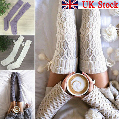 ac3df71e62e Women Over Knee Wool Knit Long Socks Winter Thigh-Highs Warm Socks Stocking  Hot