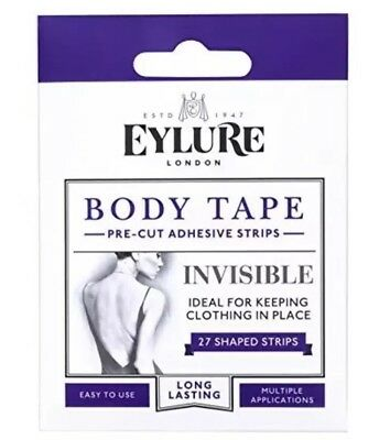 0d829a77325 Eylure Body Tape Pre Cut Adhesive Strips Invisible 27 Shaped Strips New  Year Nwq