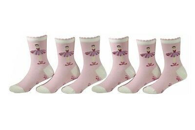 CHEX Secret Socks Childrens Girls Rabbits Invisible Ballerina Footsie 3-6 Yrs