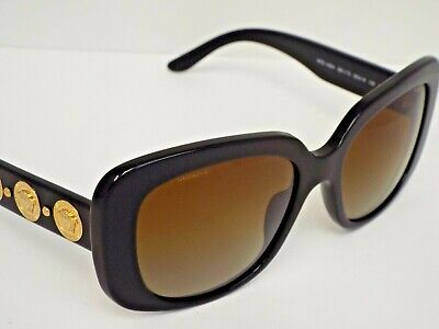 6808df7b49 Authentic VERSACE VE4284 GB1 T5 Black Gold Brown Polarized Sunglasses  370