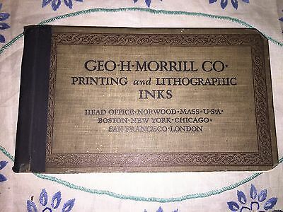 Sample Book Printing And Lithograph Inks Early 1900s Geo H Morrill Co Antique