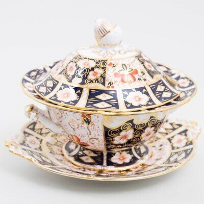 Royal Crown Derby 'Traditional Imari' Bone China, Tureen w Lid & Underplate 2451