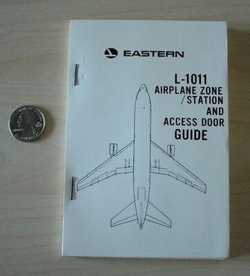 Eastern Airlines L-1011 Lockheed Airplane Zone Station Access Door Guide Book