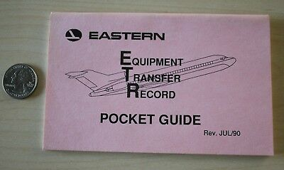 Eastern Airlines ETR Equipment Transfer Record Pocket Guide Book