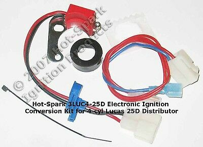 Electronic Ignition Conversion Kit for 4cyl Lucas 25D4 Austin Morris Triumph MG