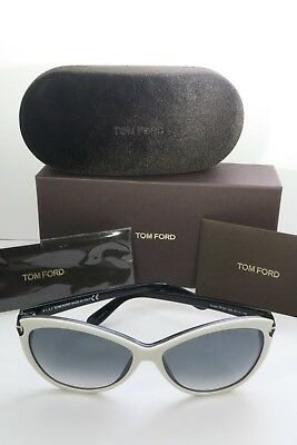 41fc485a3a656 Tom Ford Women s White Sunglasses with box Telma TF 325 25B 60mm