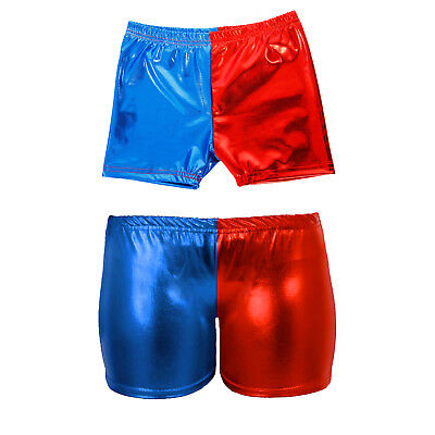Girls Cosplay Harley Quinn Shorts Suicide Squad Harlequin Shiny Hot Pants