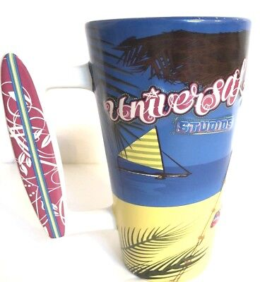 3D Mug Raised Universal Studios Beach Ocean ,Surf Board 2007 Mug Coffee Cup 6""