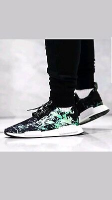 info for 70c9a 8d63e Adidas NMD R1 PK Primeknit Nomad Green Marble Flash BB7996 -SZ 10.5 NEW IN  BOX!