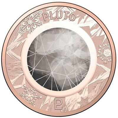 2017 Coloured 1c Cent Coin from Australian Planetary Coins Collection - Pluto