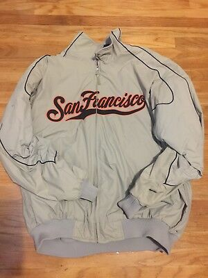 new concept 055a6 b0ac0 MAJESTIC AUTHENTIC COLLECTION SAN Francisco Giants Gray Jacket XXL