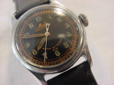 Vintage antique WWII World War II MILITARY MIDO MULTIFORT AUTOMATIC mens watch