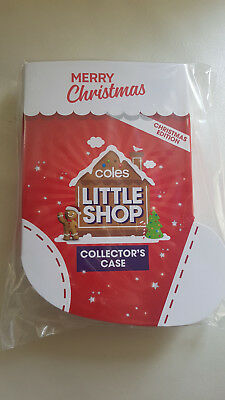 Coles Little Shop Christmas Collectors Case Only New & Sealed